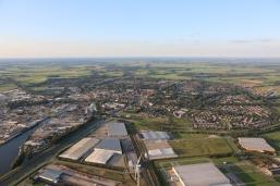 Ballonvaren boven Drenthe